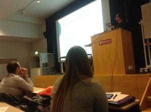 Dr Watson giving a talk at BBK